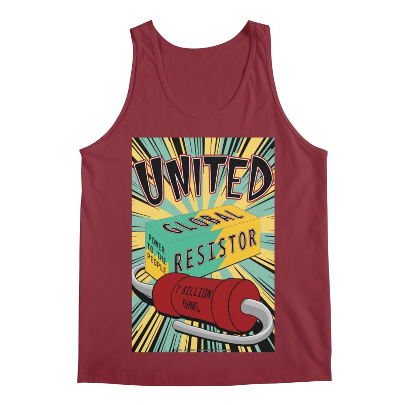 United Global Resistor Men's Regular Tank by Spiral Saint - Artist Shop