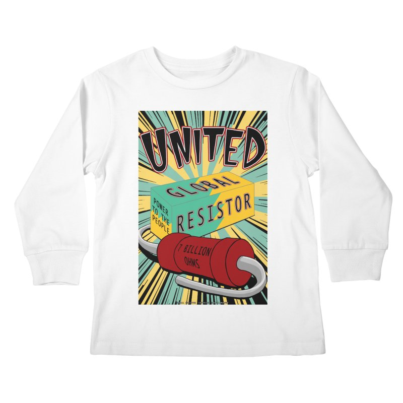 United Global Resistor Kids Longsleeve T-Shirt by Spiral Saint - Artist Shop