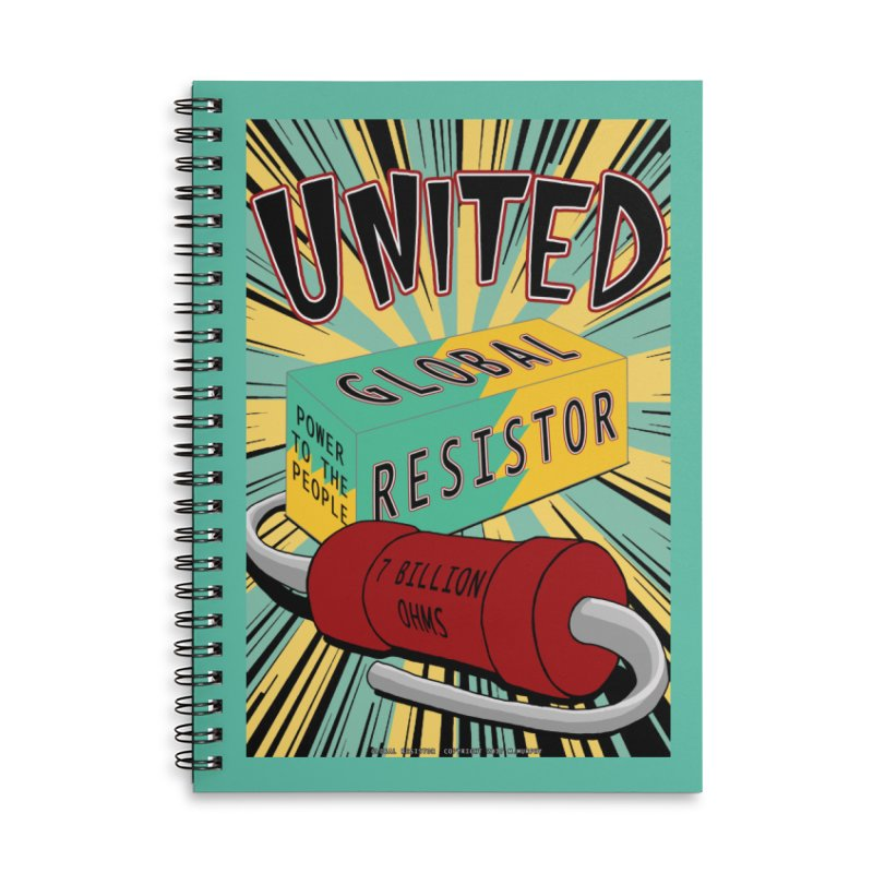 United Global Resistor Accessories Lined Spiral Notebook by Spiral Saint - Artist Shop