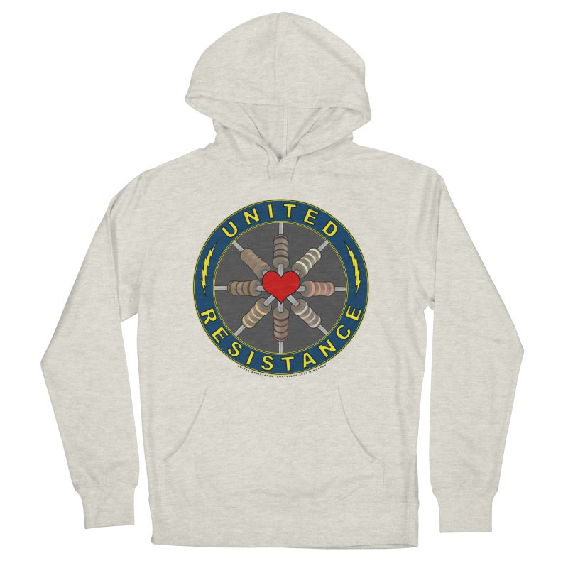 United Resistance Through Love Women's French Terry Pullover Hoody by Spiral Saint - Artist Shop
