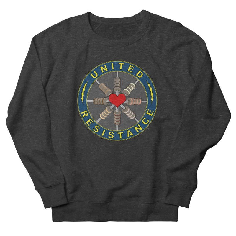 United Resistance Through Love Women's French Terry Sweatshirt by Spiral Saint - Artist Shop