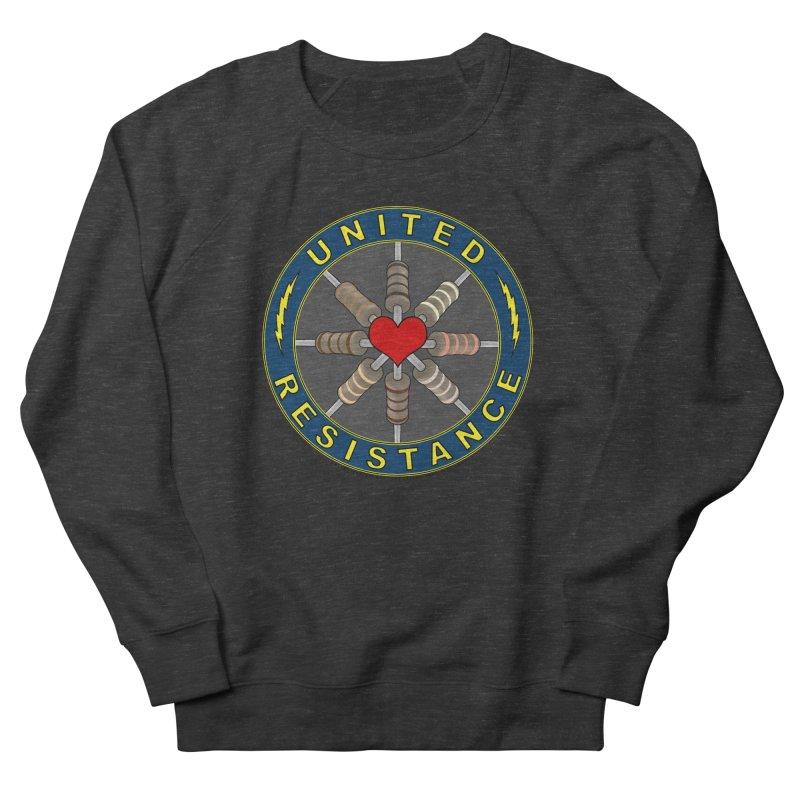 United Resistance Through Love Men's French Terry Sweatshirt by Spiral Saint - Artist Shop