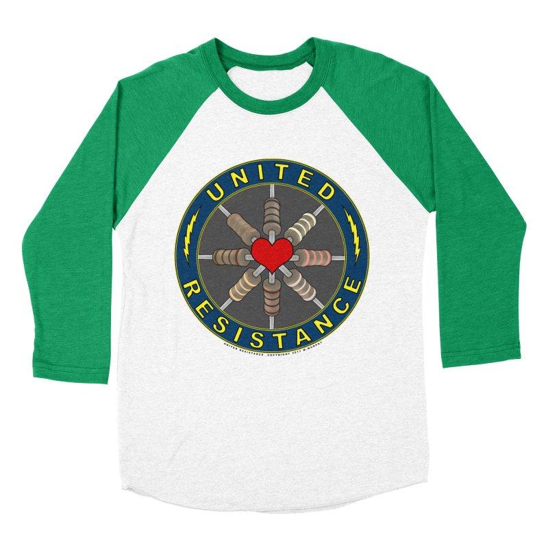 United Resistance Through Love Men's Baseball Triblend T-Shirt by Spiral Saint - Artist Shop