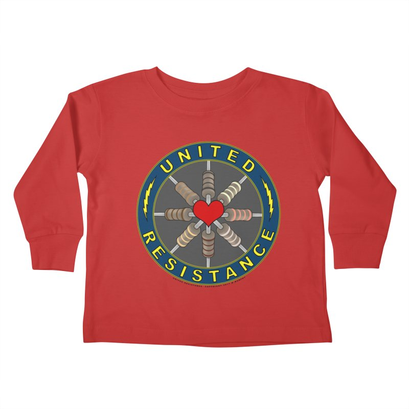 United Resistance Through Love Kids Toddler Longsleeve T-Shirt by Spiral Saint - Artist Shop