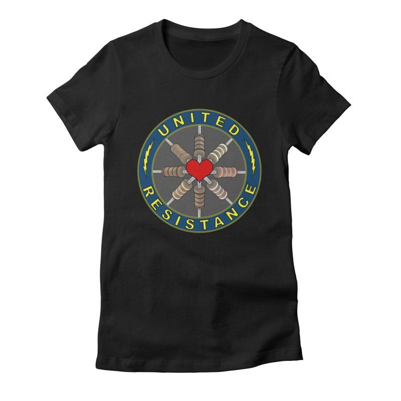 United Resistance Through Love Women's Fitted T-Shirt by Spiral Saint - Artist Shop