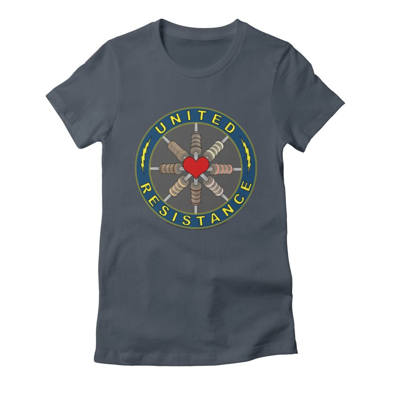 United Resistance Through Love Women's Fitted T-Shirt by Spiral Saint - Artist Shop