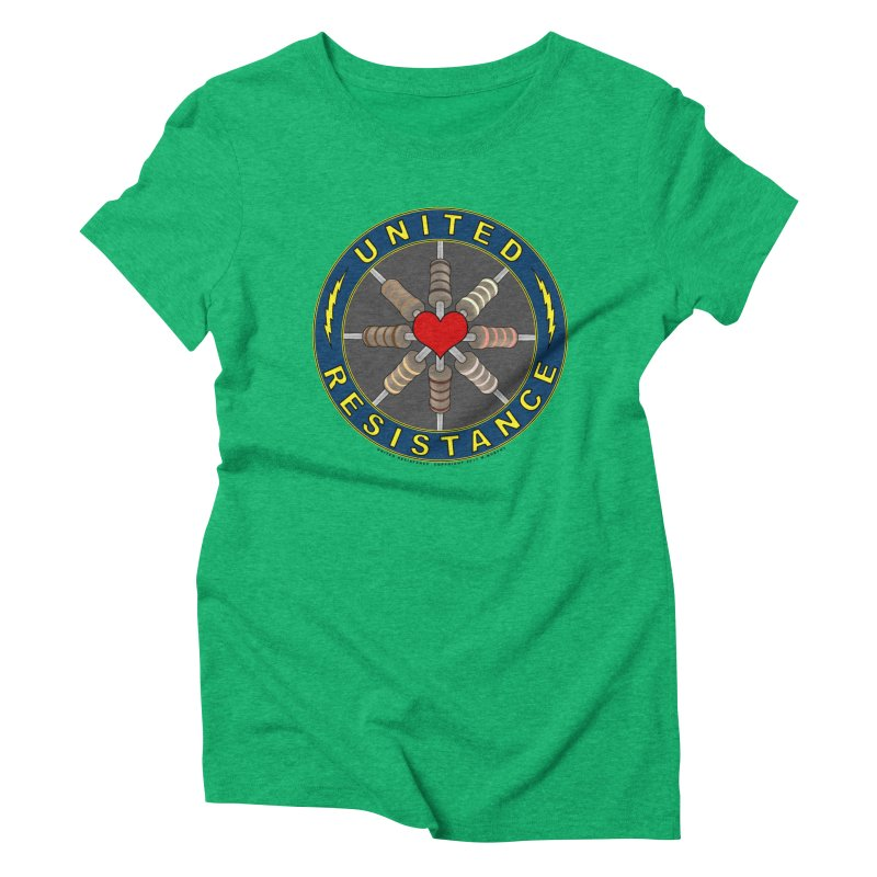 United Resistance Through Love Women's Triblend T-Shirt by Spiral Saint - Artist Shop