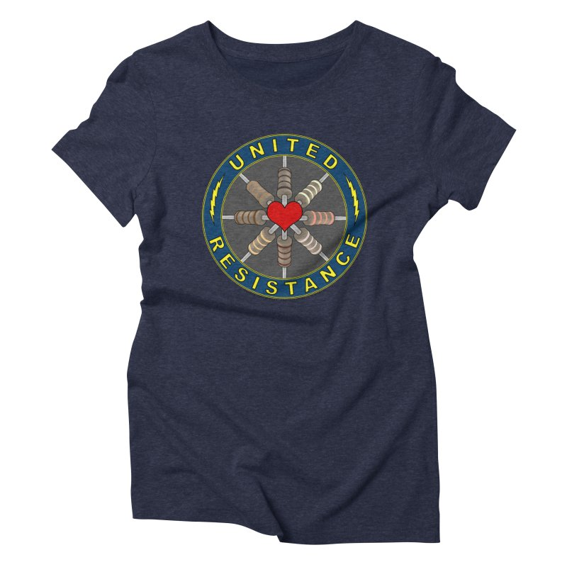 United Resistance Through Love Women's Triblend T-Shirt by Spiral Saint - Artist Shop