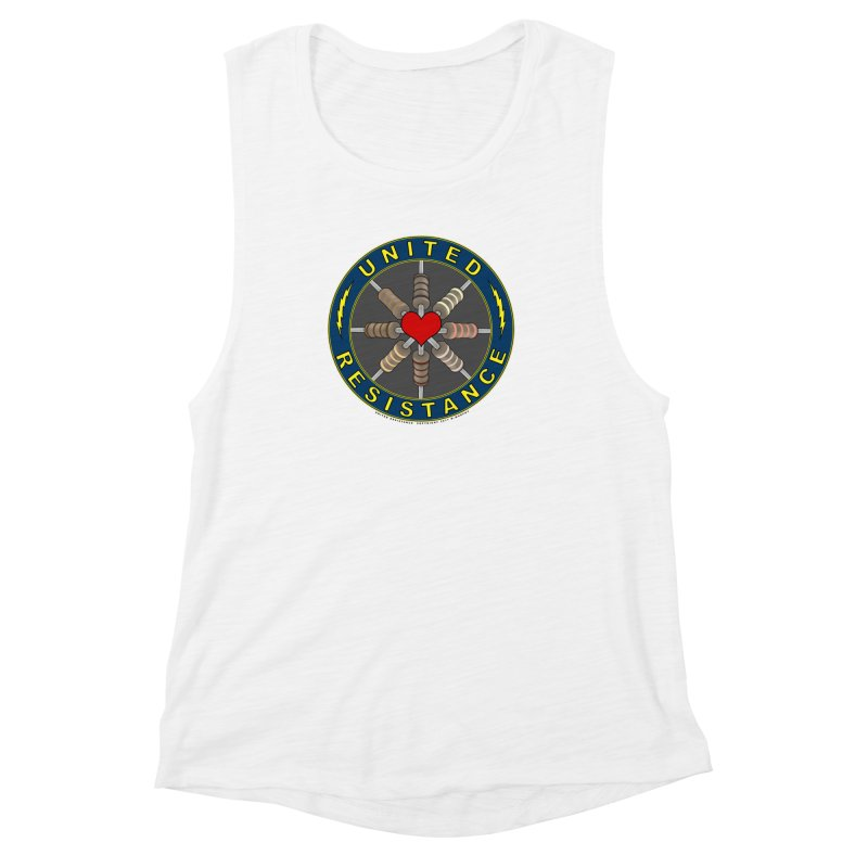 United Resistance Through Love Women's Muscle Tank by Spiral Saint - Artist Shop