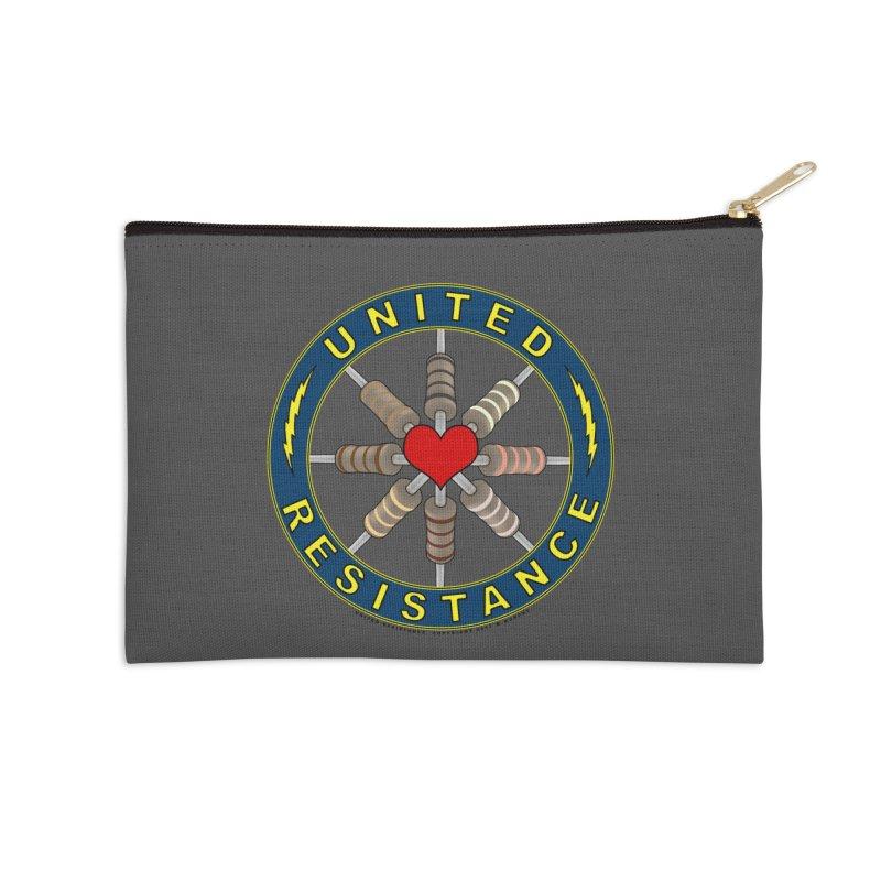 United Resistance Through Love Accessories Zip Pouch by Spiral Saint - Artist Shop