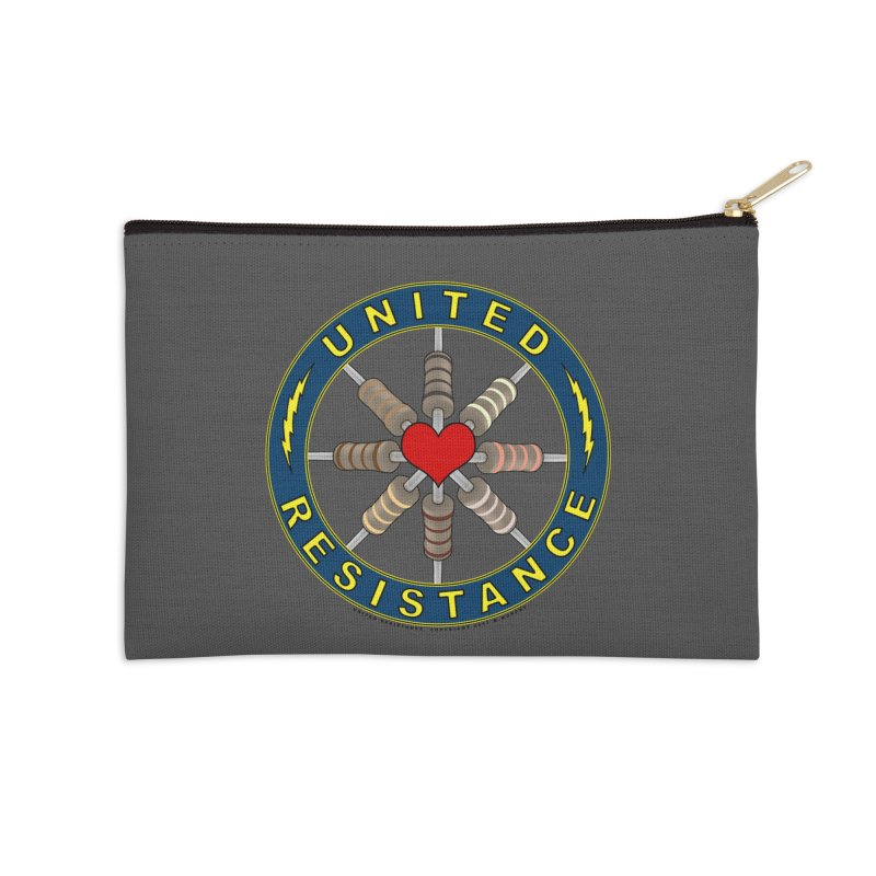 United Resistance Through Love Accessories Zip Pouch by Spiral Saint - Artist Shop