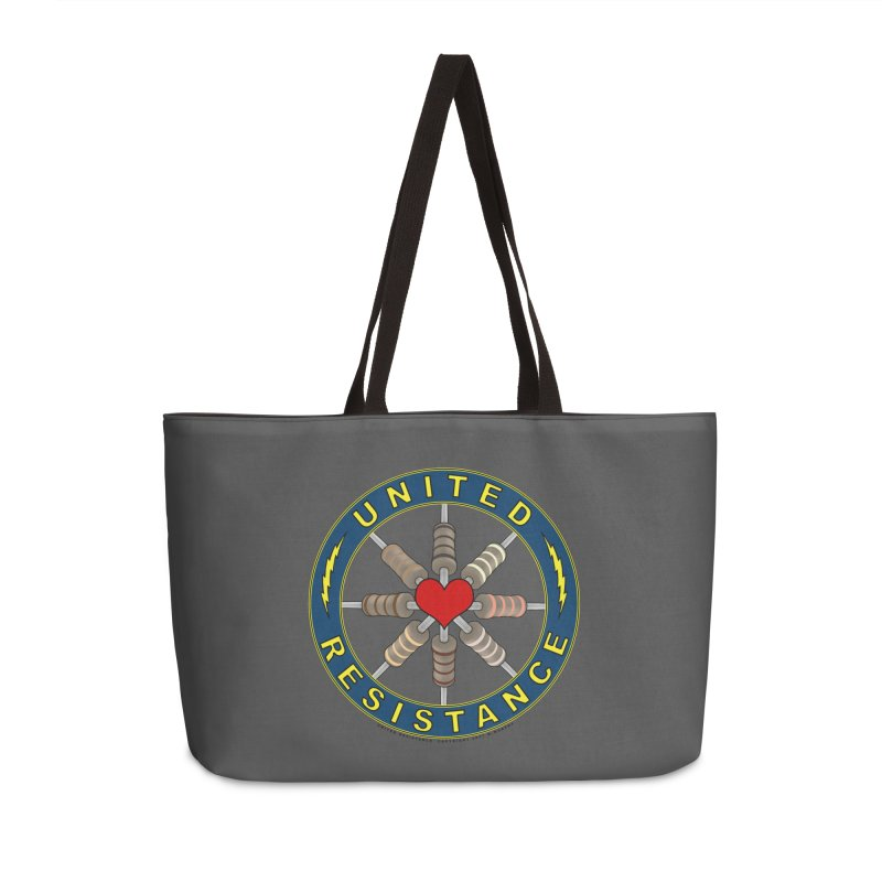 United Resistance Through Love Accessories Weekender Bag Bag by Spiral Saint - Artist Shop