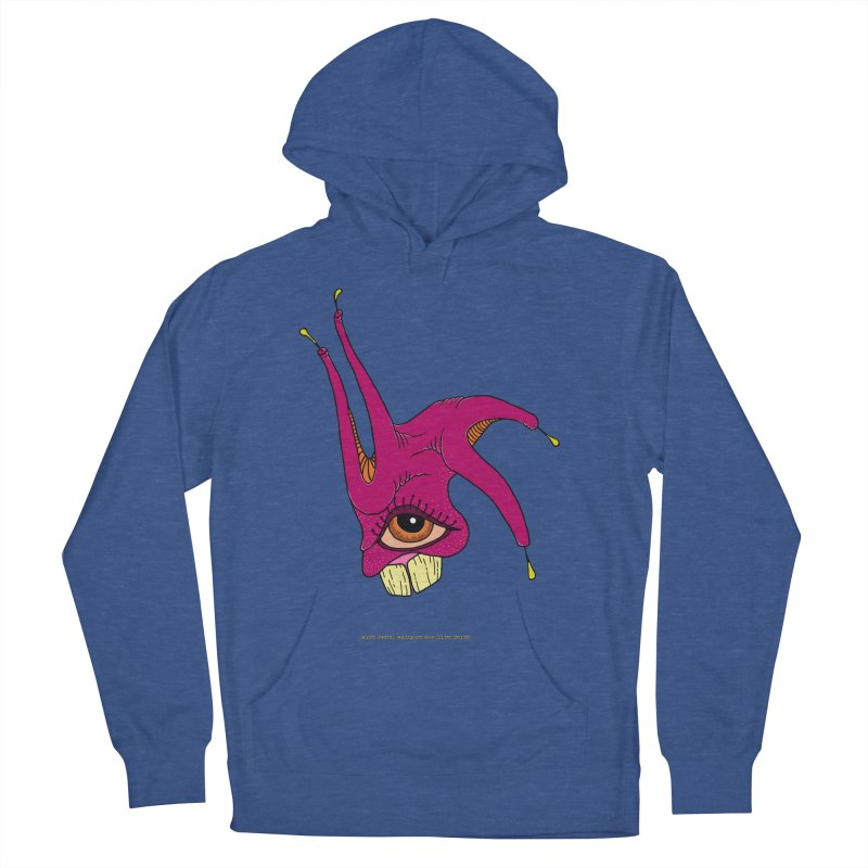 Crazy Jester Women's French Terry Pullover Hoody by Spiral Saint - Artist Shop