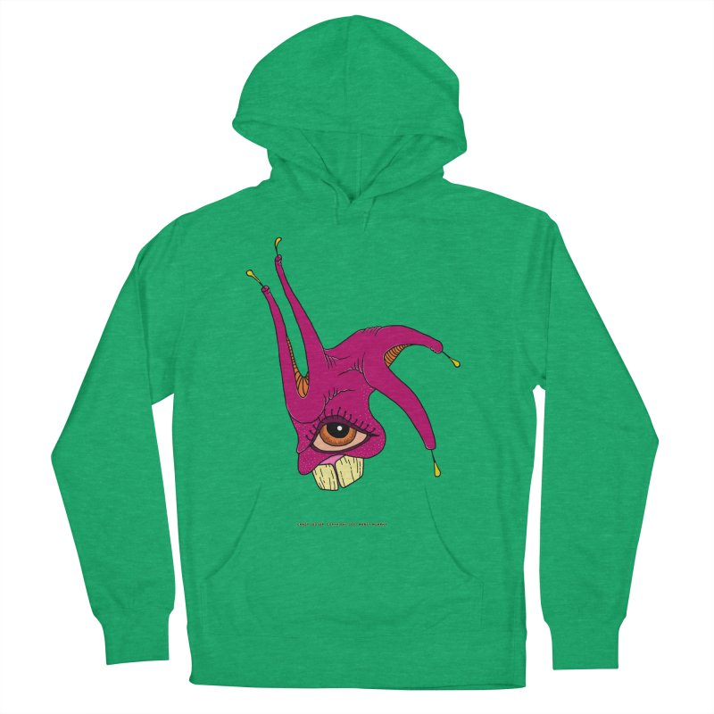 Crazy Jester Men's French Terry Pullover Hoody by Spiral Saint - Artist Shop
