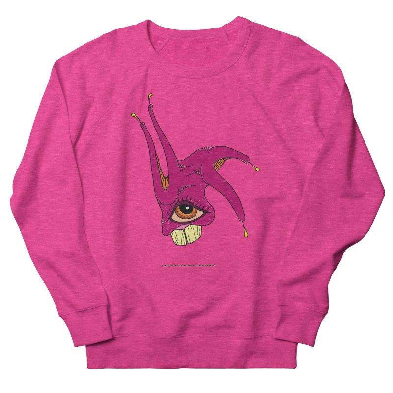 Crazy Jester Men's French Terry Sweatshirt by Spiral Saint - Artist Shop
