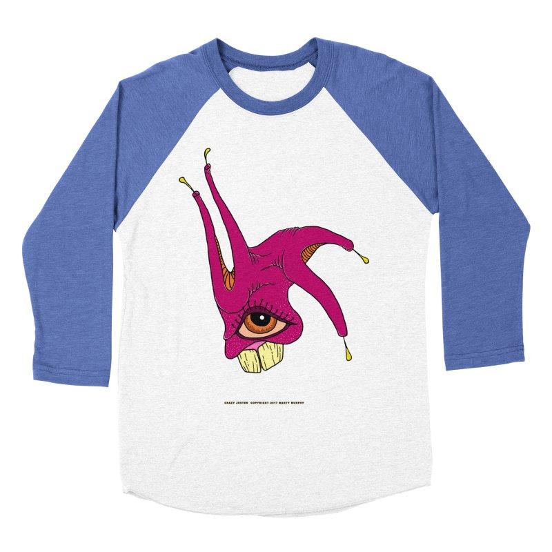 Crazy Jester Men's Baseball Triblend T-Shirt by Spiral Saint - Artist Shop