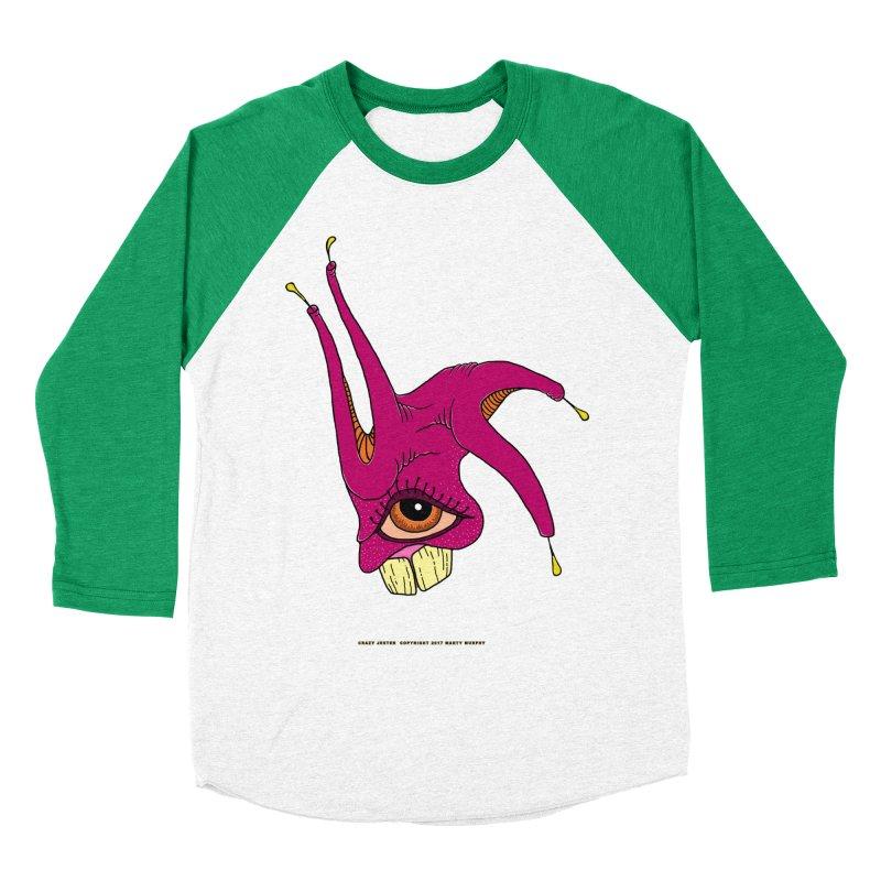 Crazy Jester Men's Baseball Triblend Longsleeve T-Shirt by Spiral Saint - Artist Shop