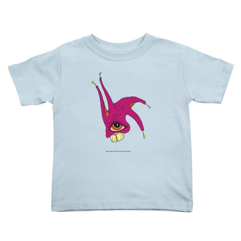 Crazy Jester Kids Toddler T-Shirt by Spiral Saint - Artist Shop
