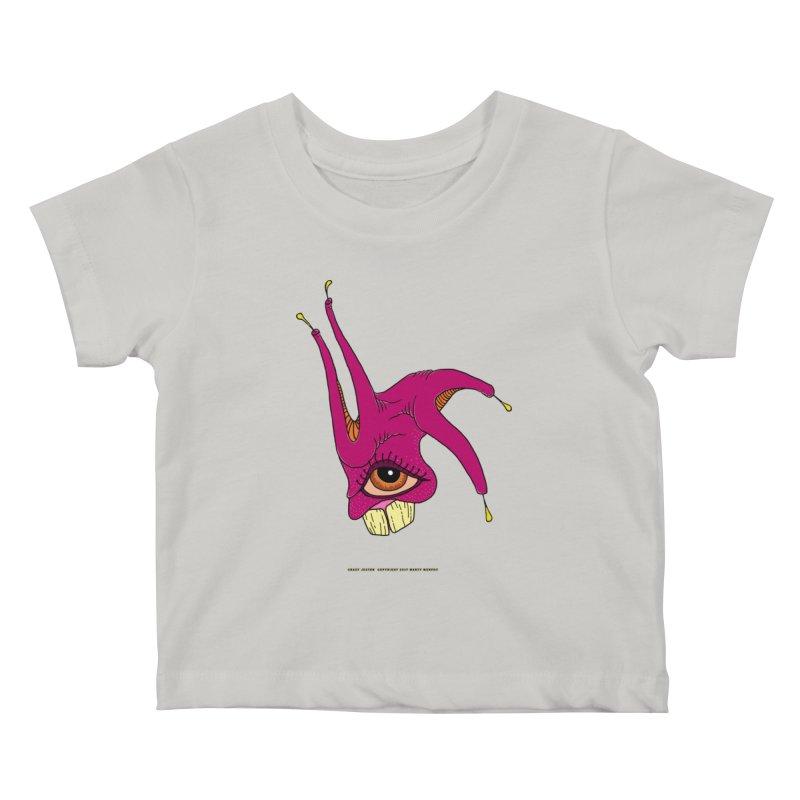 Crazy Jester Kids Baby T-Shirt by Spiral Saint - Artist Shop