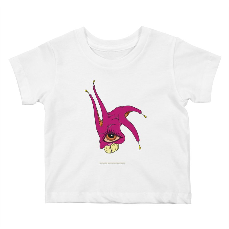 Crazy Jester Kids Baby T-Shirt by Spiral Saint - Artist Shop