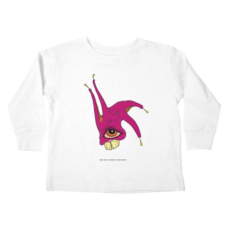 Crazy Jester Kids Toddler Longsleeve T-Shirt by Spiral Saint - Artist Shop