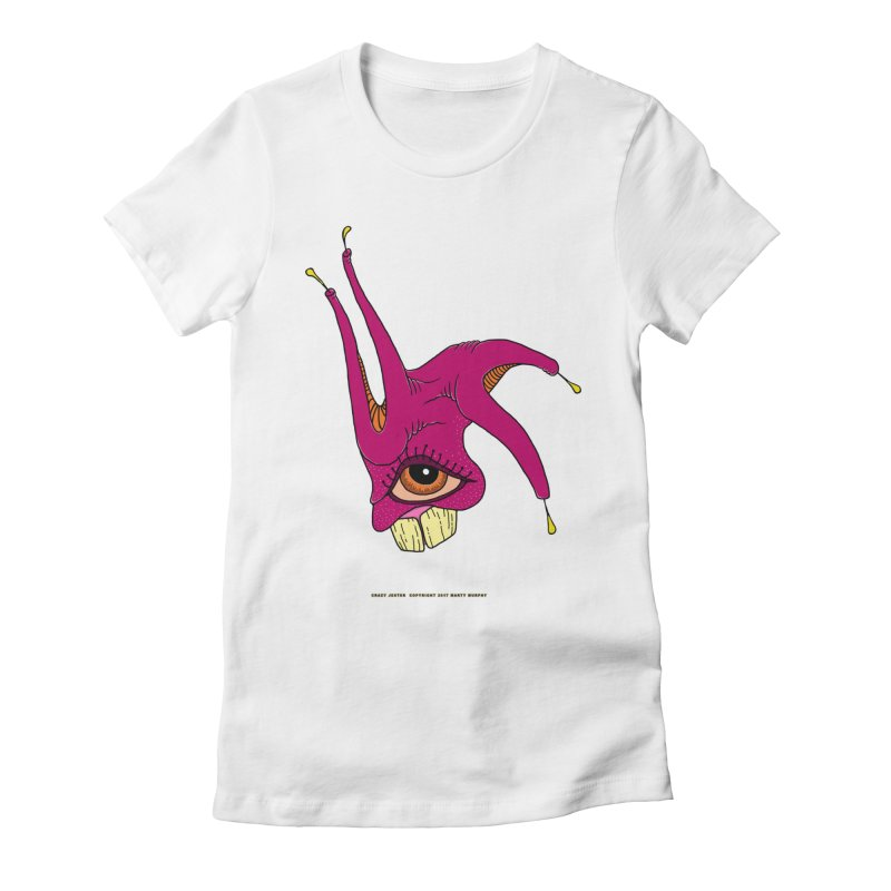 Crazy Jester Women's Fitted T-Shirt by Spiral Saint - Artist Shop