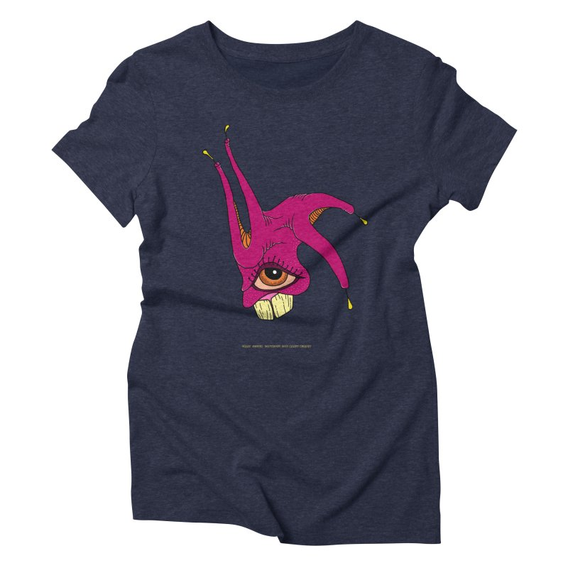Crazy Jester Women's Triblend T-Shirt by Spiral Saint - Artist Shop