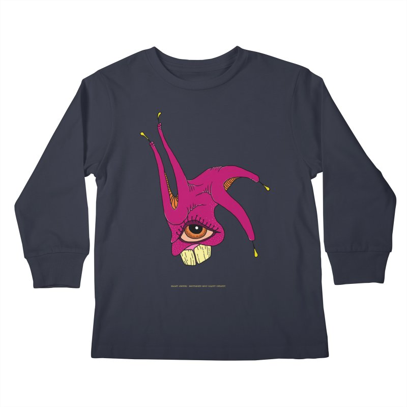 Crazy Jester Kids Longsleeve T-Shirt by Spiral Saint - Artist Shop
