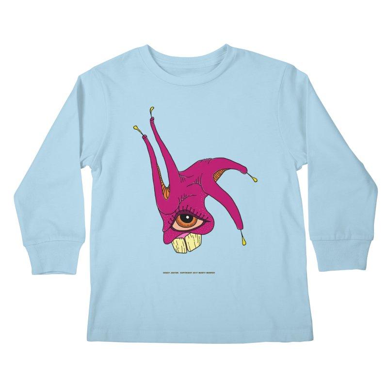 Crazy Jester Kids Longsleeve T-Shirt by Spiral Saint - Artist Shop