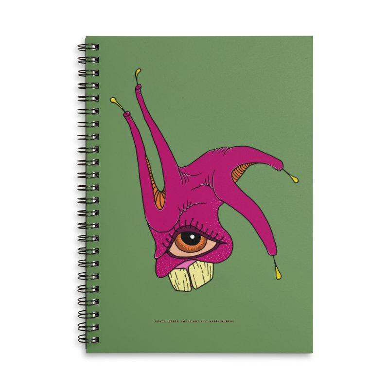 Crazy Jester Accessories Lined Spiral Notebook by Spiral Saint - Artist Shop