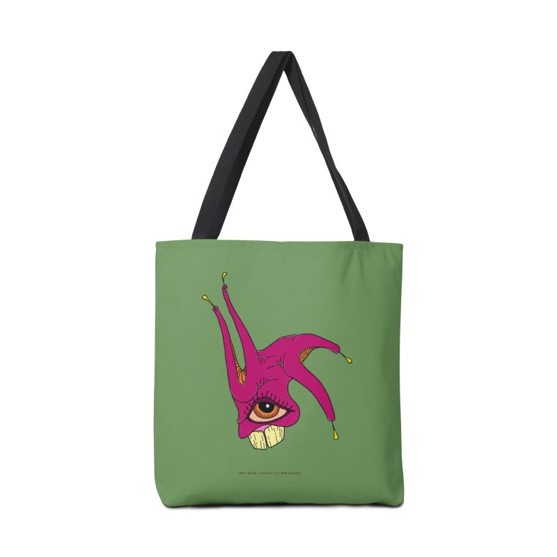 Crazy Jester Accessories Bag by Spiral Saint - Artist Shop