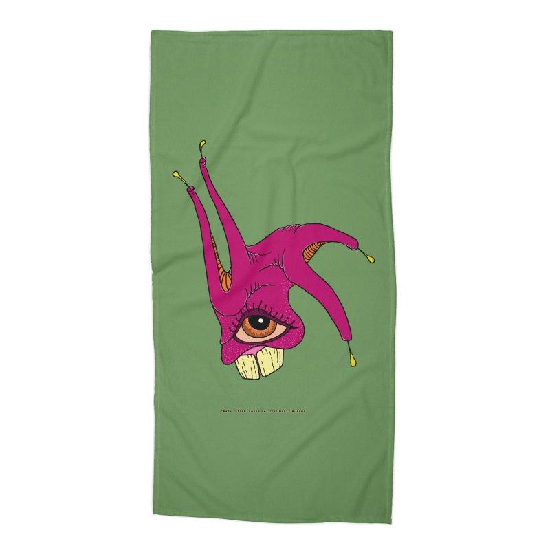 Crazy Jester Accessories Beach Towel by Spiral Saint - Artist Shop