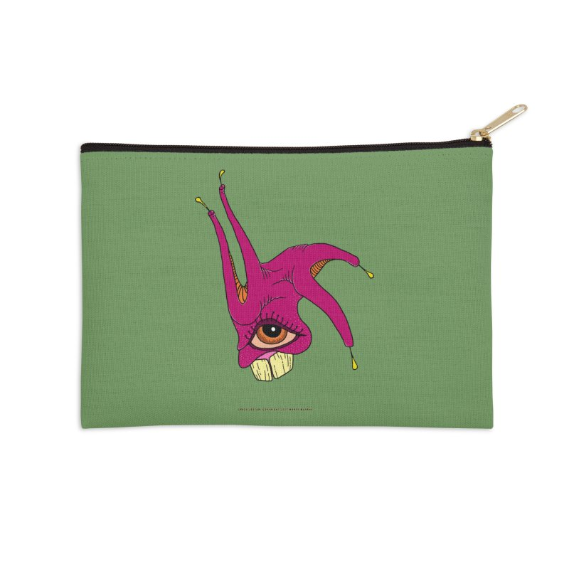 Crazy Jester Accessories Zip Pouch by Spiral Saint - Artist Shop