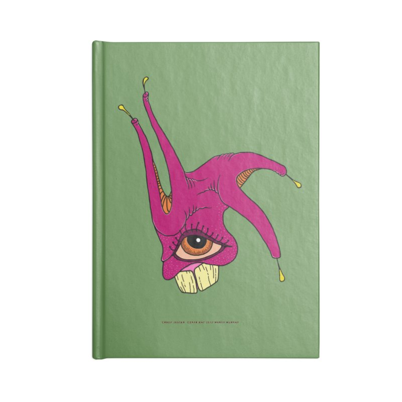 Crazy Jester Accessories Notebook by Spiral Saint - Artist Shop