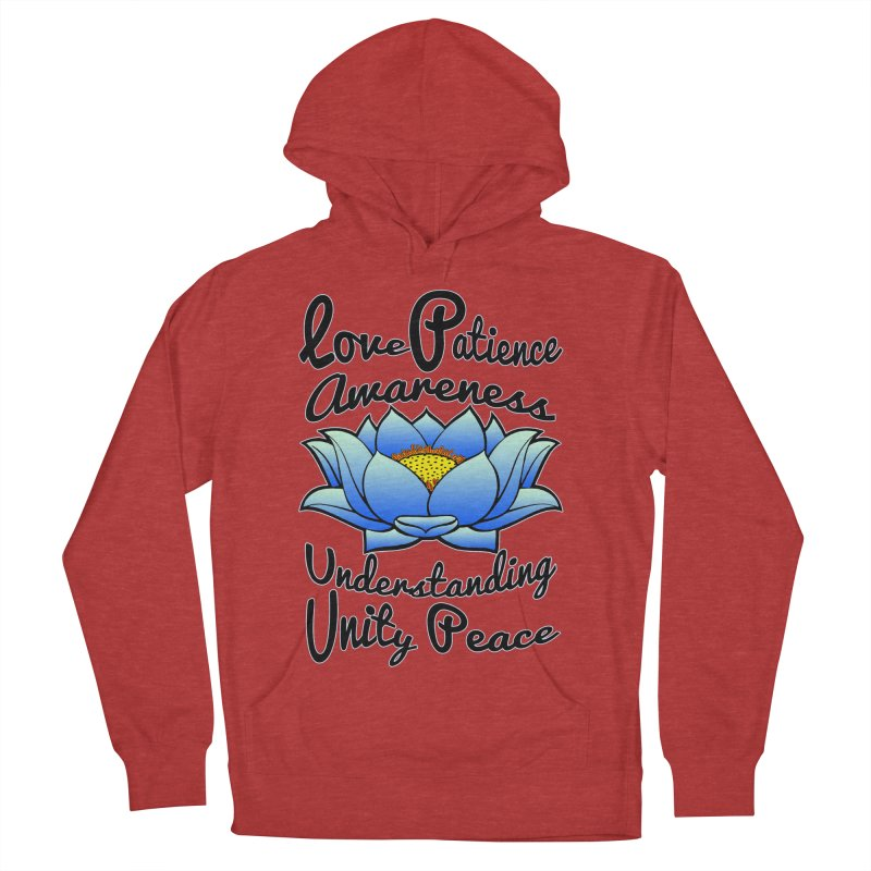 The Lotus Blossom Women's French Terry Pullover Hoody by Spiral Saint - Artist Shop
