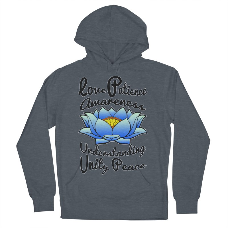 The Lotus Blossom Men's French Terry Pullover Hoody by Spiral Saint - Artist Shop