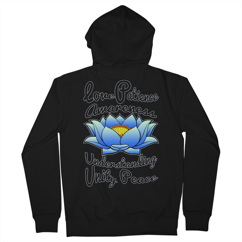 The Lotus Blossom Women's French Terry Zip-Up Hoody by Spiral Saint - Artist Shop