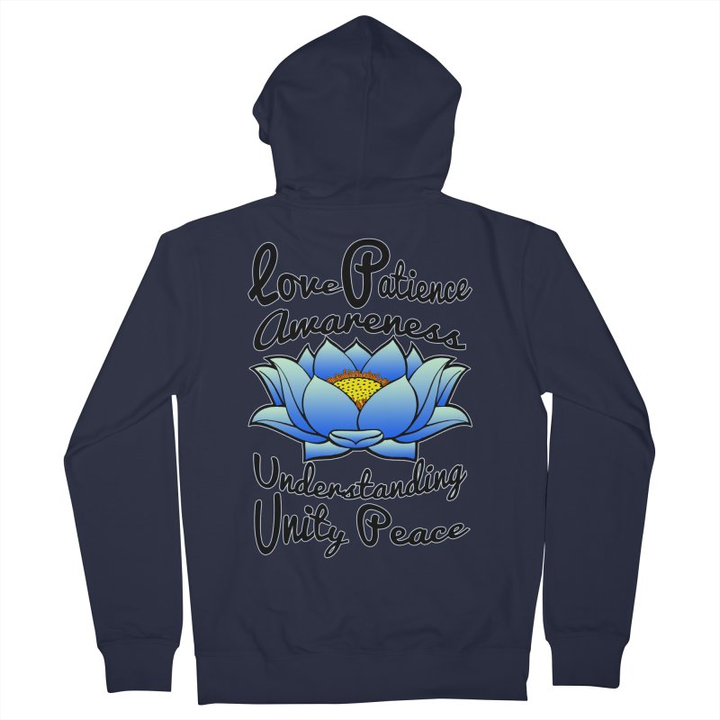The Lotus Blossom Women's Zip-Up Hoody by Spiral Saint - Artist Shop