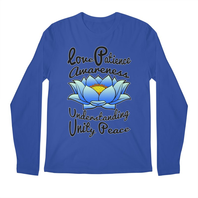 The Lotus Blossom Men's Regular Longsleeve T-Shirt by Spiral Saint - Artist Shop