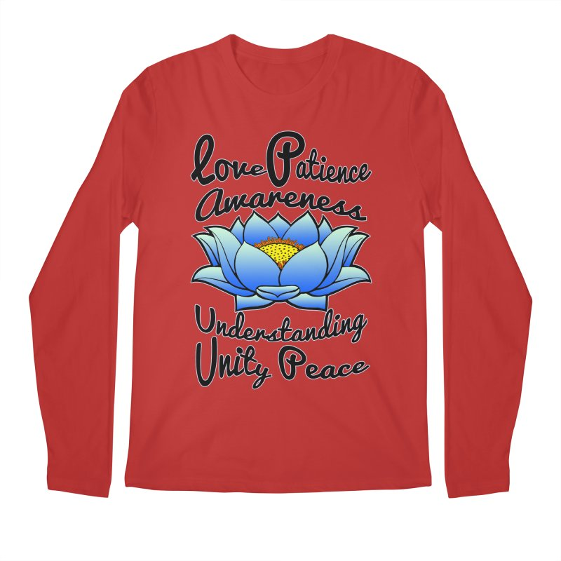 The Lotus Blossom Men's Regular Longsleeve T-Shirt by Spiral Saint - Artist Shop