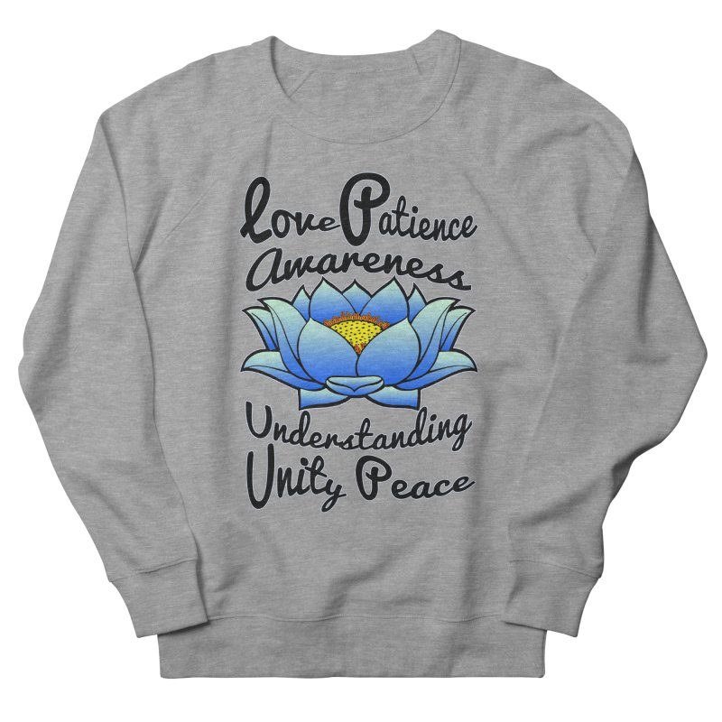 The Lotus Blossom Women's French Terry Sweatshirt by Spiral Saint - Artist Shop