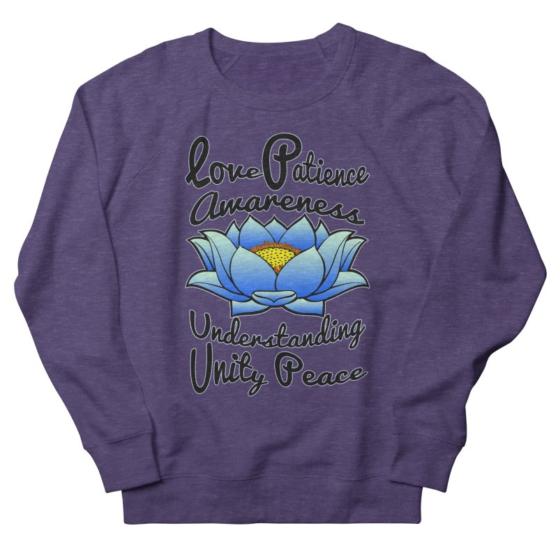 The Lotus Blossom Men's French Terry Sweatshirt by Spiral Saint - Artist Shop