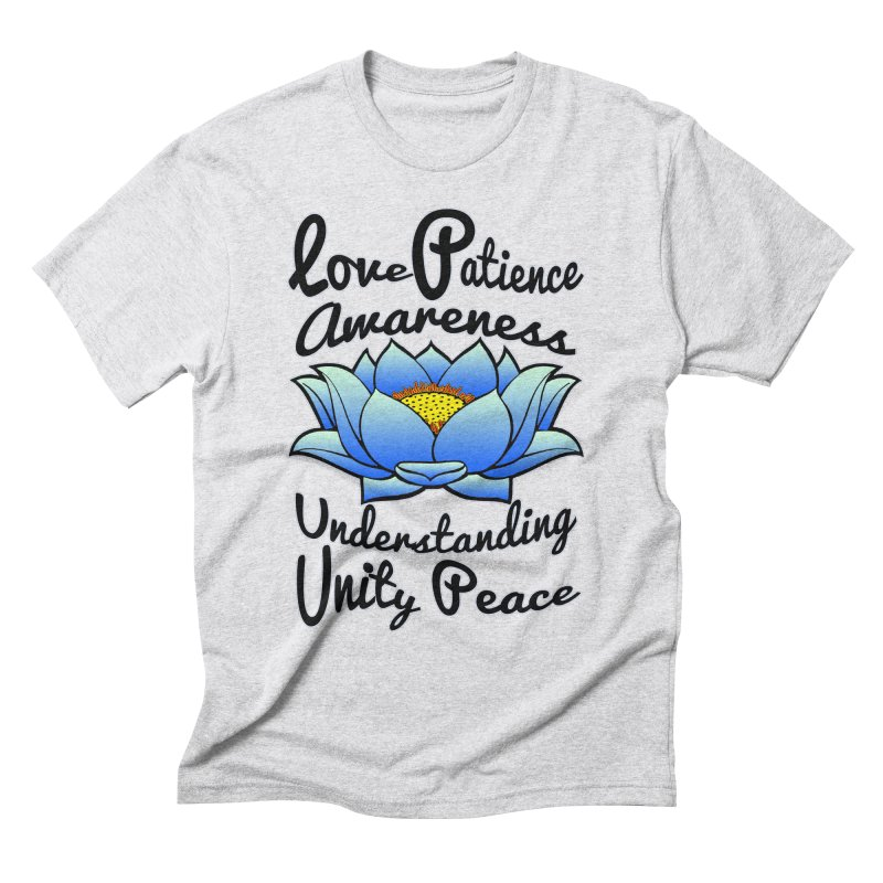 The Lotus Blossom Men's Triblend T-Shirt by Spiral Saint - Artist Shop