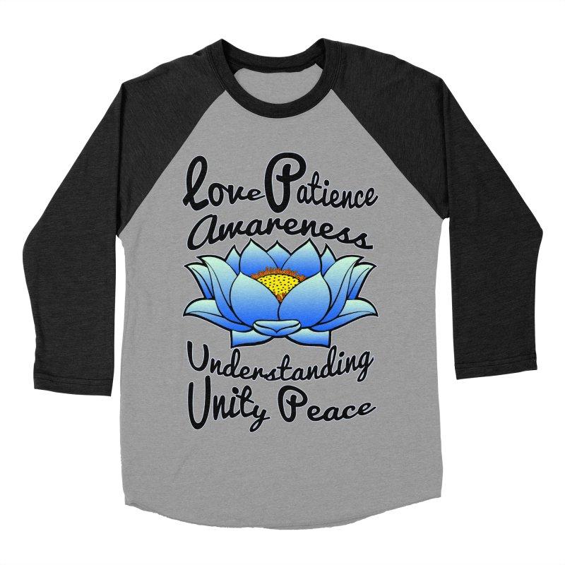 The Lotus Blossom Women's Baseball Triblend Longsleeve T-Shirt by Spiral Saint - Artist Shop