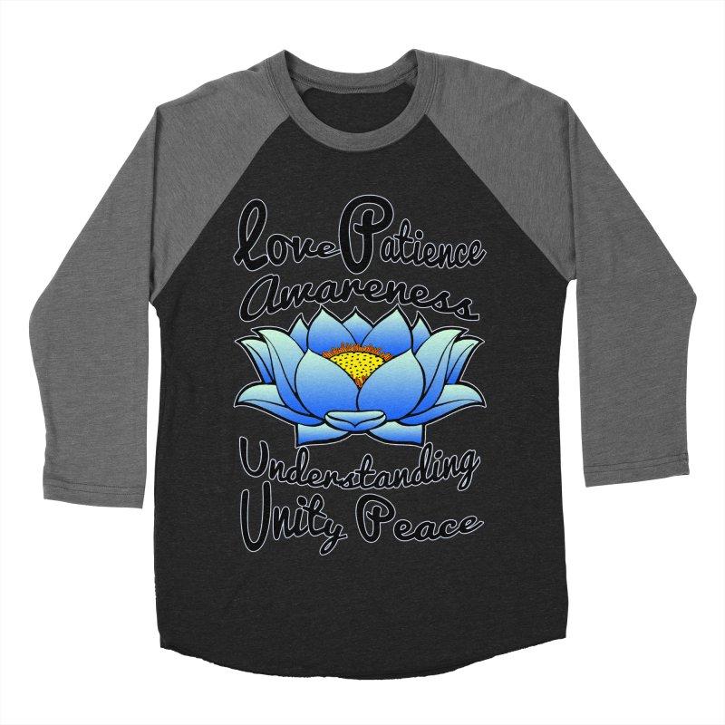 The Lotus Blossom Men's Baseball Triblend Longsleeve T-Shirt by Spiral Saint - Artist Shop