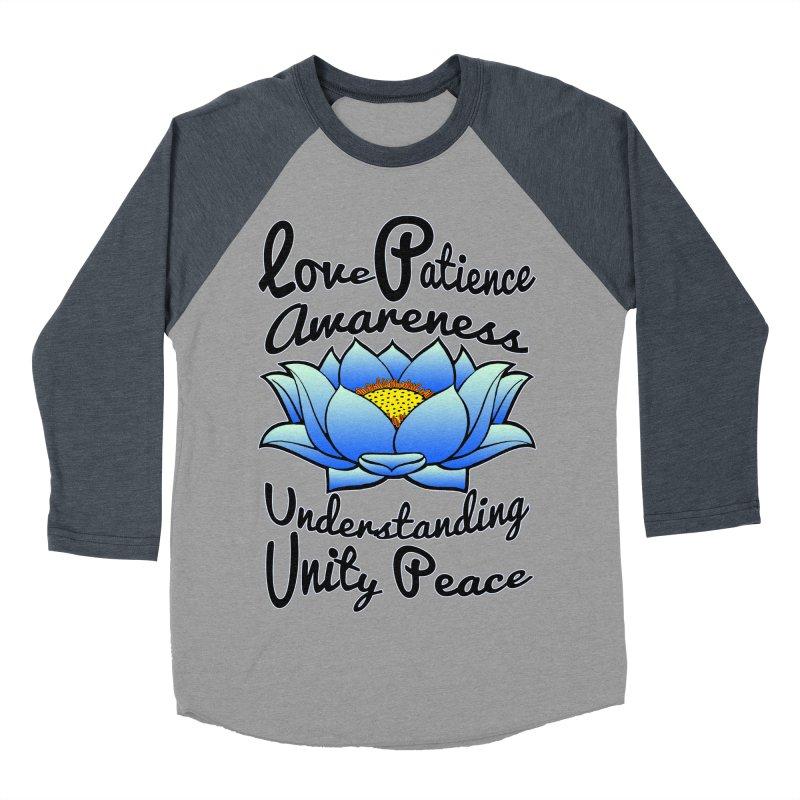 The Lotus Blossom Men's Baseball Triblend T-Shirt by Spiral Saint - Artist Shop