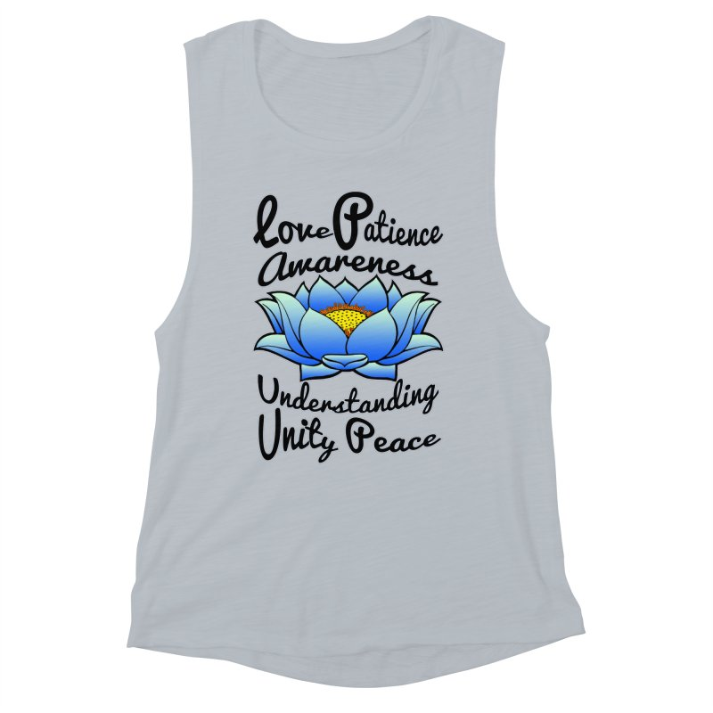 The Lotus Blossom Women's Muscle Tank by Spiral Saint - Artist Shop