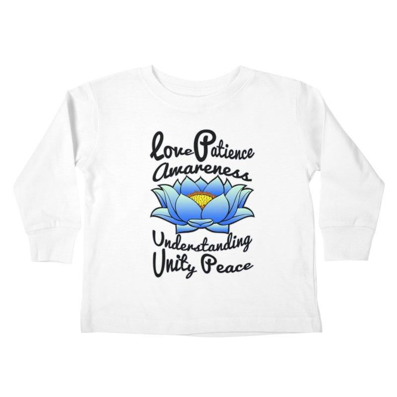 The Lotus Blossom Kids Toddler Longsleeve T-Shirt by Spiral Saint - Artist Shop