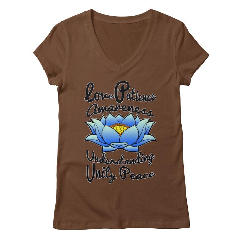 The Lotus Blossom Women's Regular V-Neck by Spiral Saint - Artist Shop