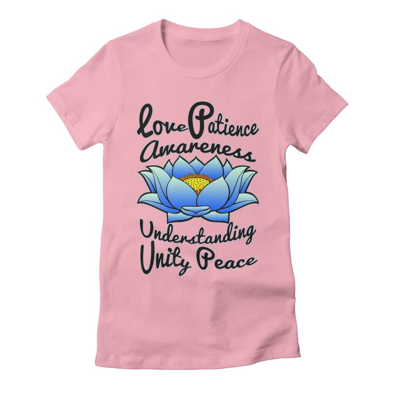 The Lotus Blossom Women's Fitted T-Shirt by Spiral Saint - Artist Shop